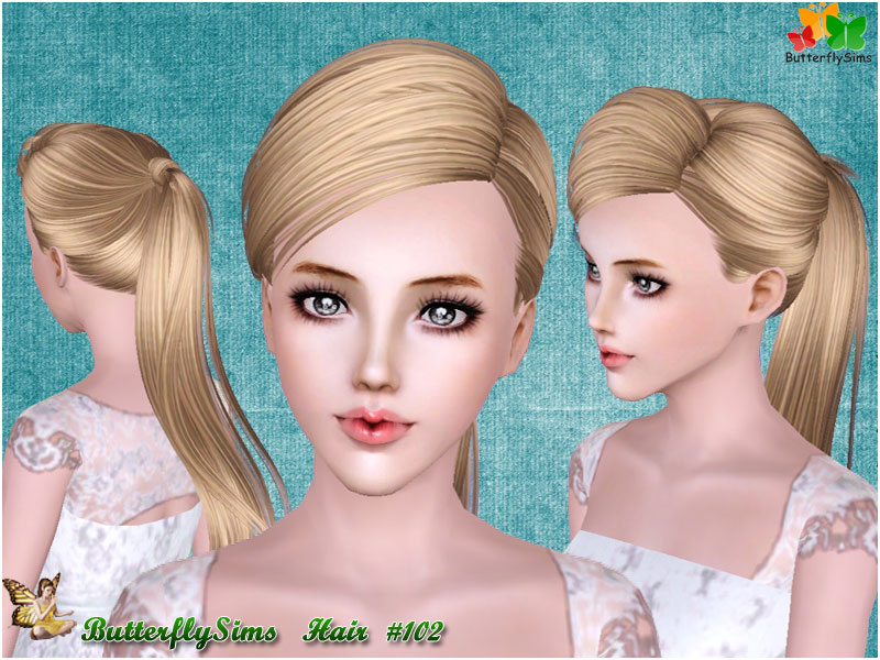 Hairstyle 102 by ButterflySims