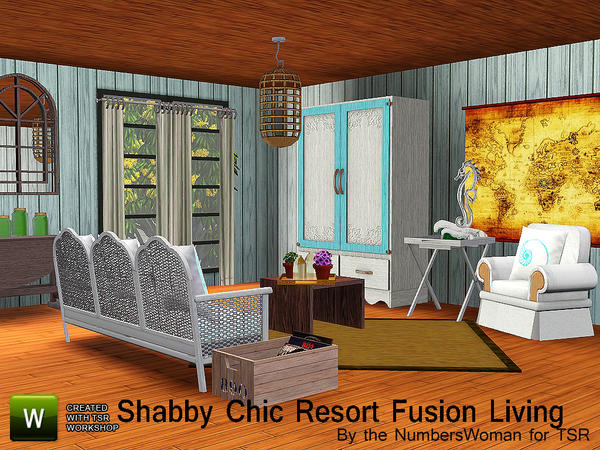 Shabby Chic Resort Fusion Living by riccinumbers