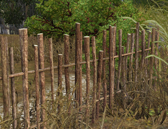 Stick Fences and Gate by Cyclonesue