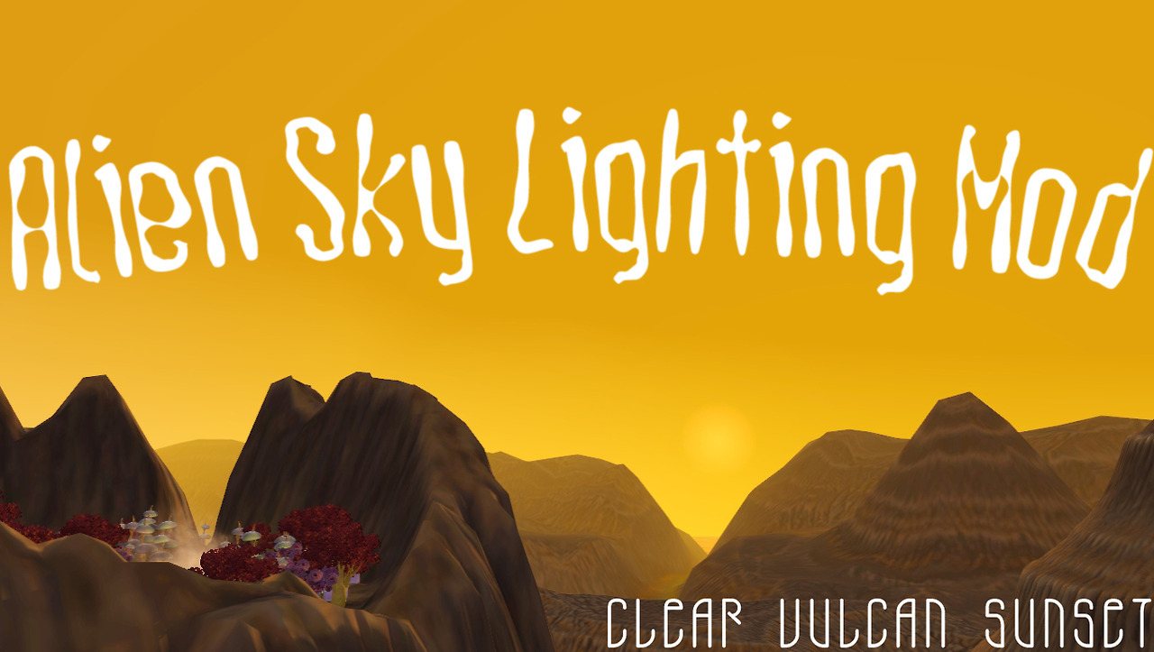 Alien sky lighting mod by Brnt Waffles