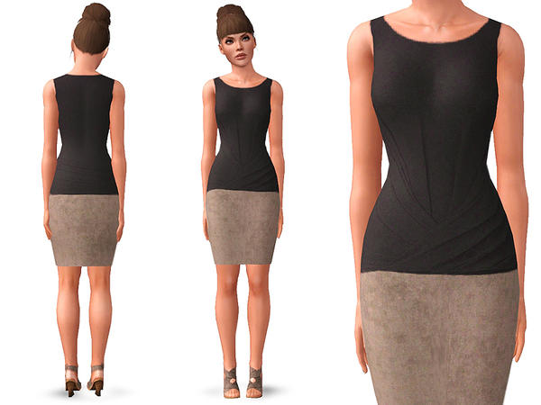 CASUALLY CHIC DRESS by SimDetails