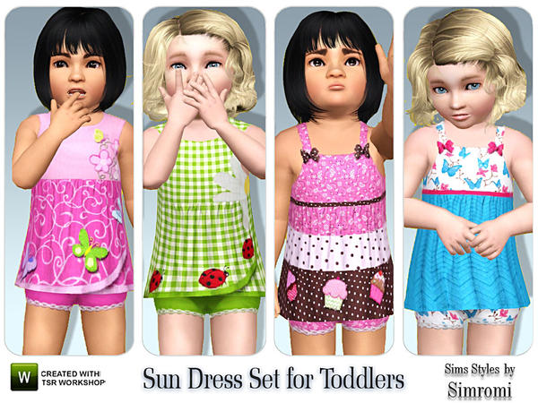 Sweet Sun Dress Set for Toddler Girls by simromi