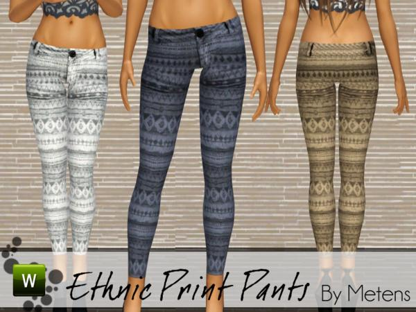 Ethnic Print Pants by Metens