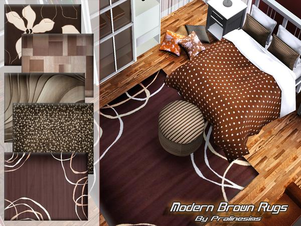 Modern Brown Rugs by Pralinesims