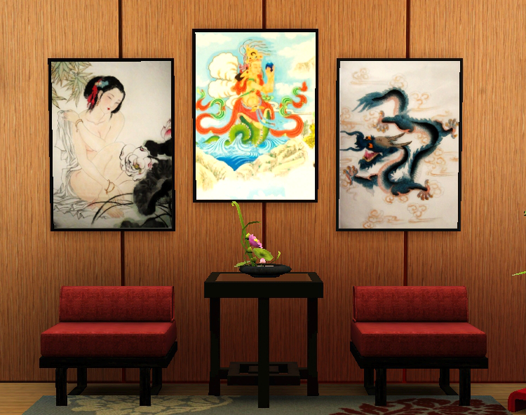 Set of 8 Chinese Art Posters by Caterpillarsims