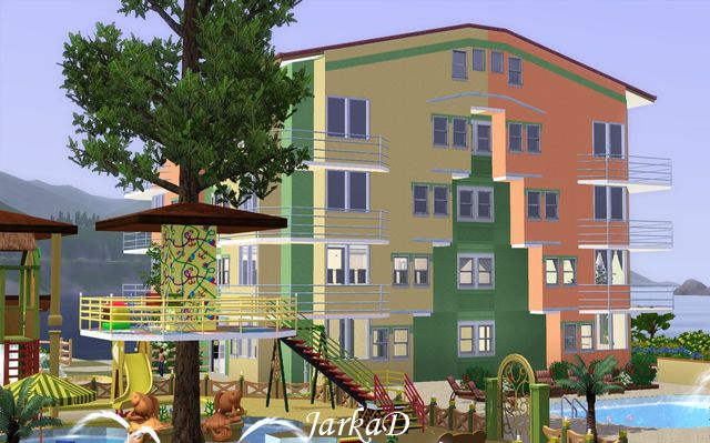 Happy apartment building by jarkad