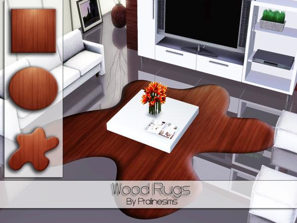 Wood Rugs by Pralinesims