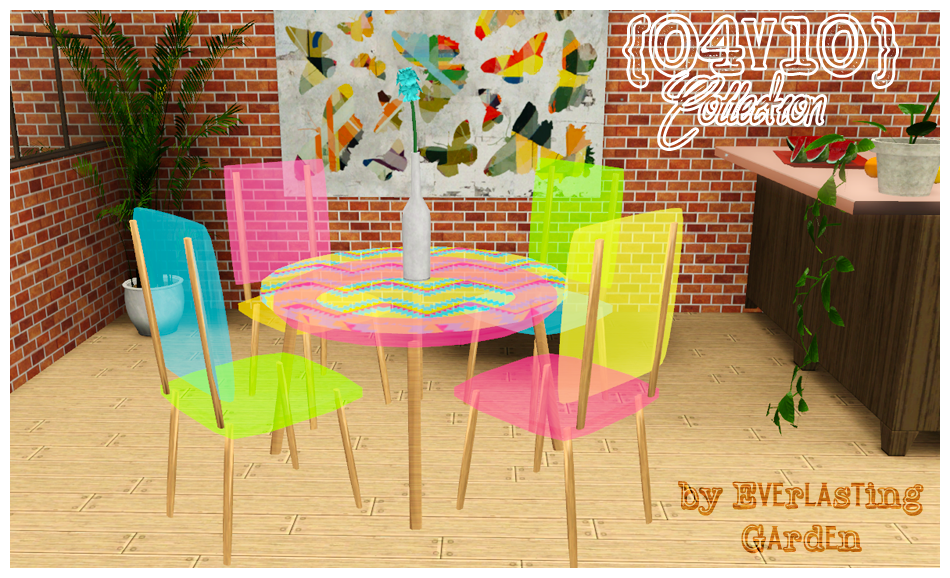 Dining chairs and table by Everlasting Garden