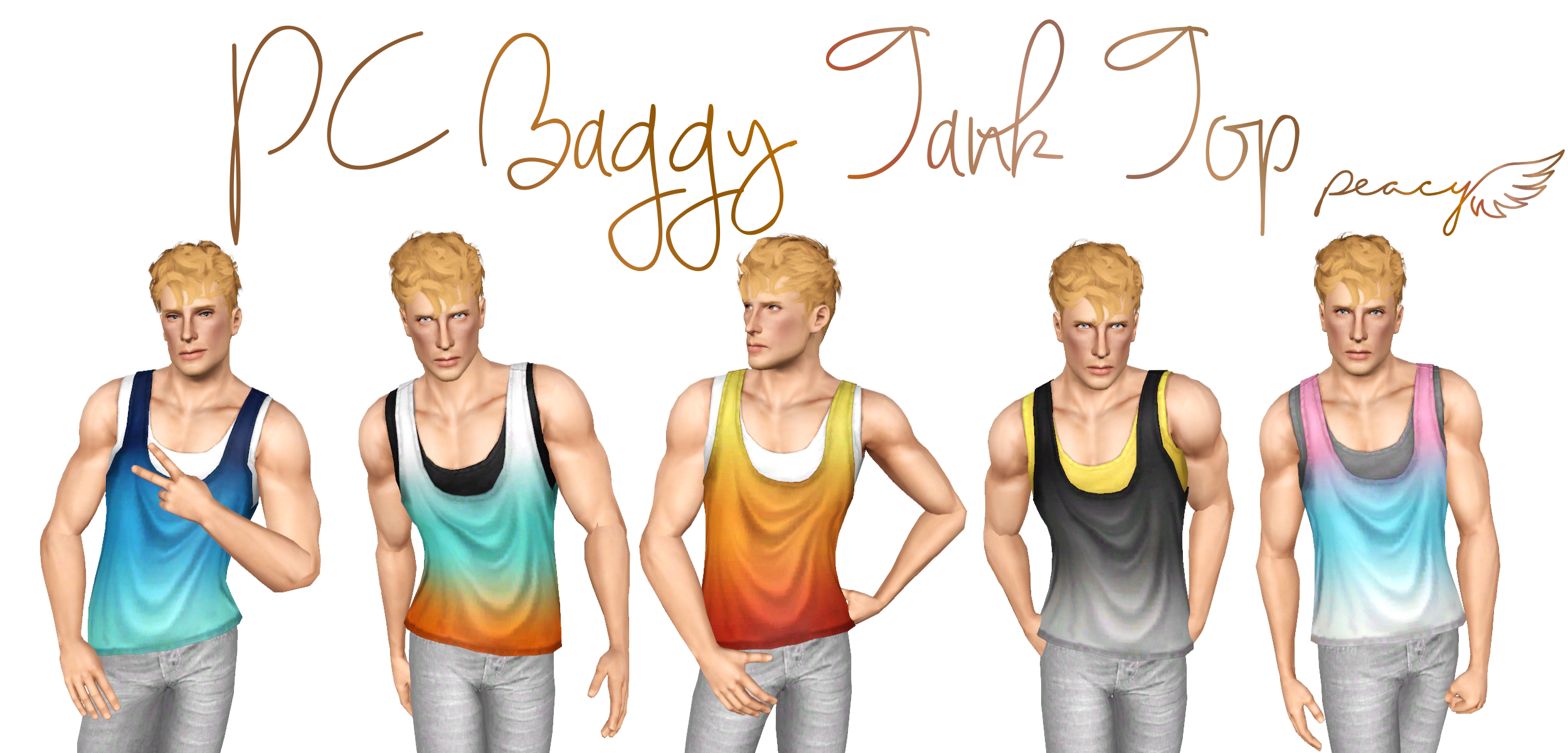 PC Baggy Tank Top by Simsational Designs