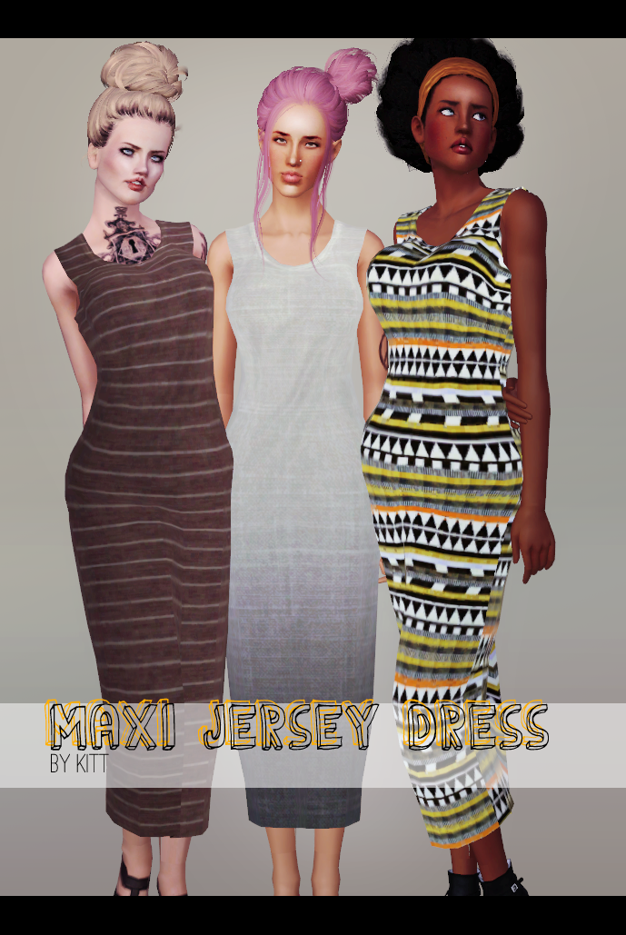 Maxi Jersey Dress by Kitt