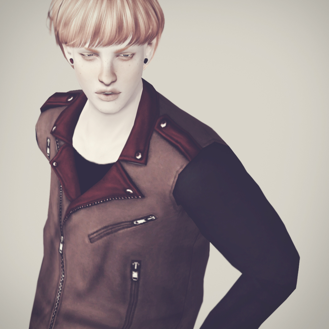 Biker leather jacket by simsimi