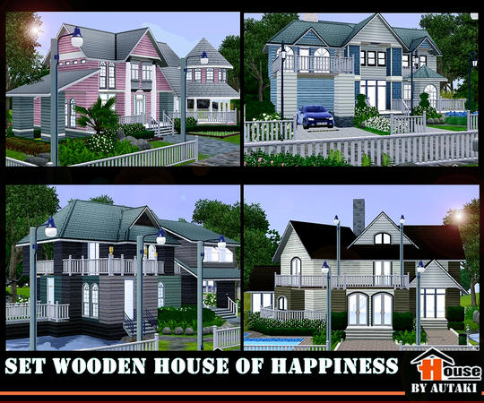 Сет домов-Set wooden house of happiness от autaki
