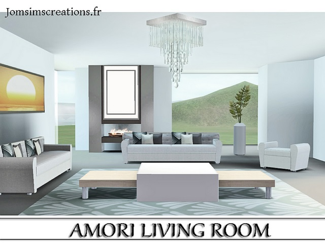 Amori Living Set by JomSims