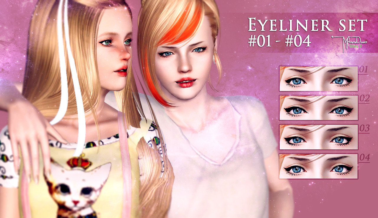 Eyeliner Set - Contains 4 practical eyeliners by m1ssduo