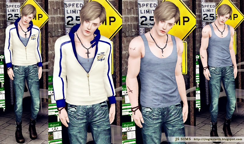 Tank Top Accessories & Clothing (male) by JS Sims 3