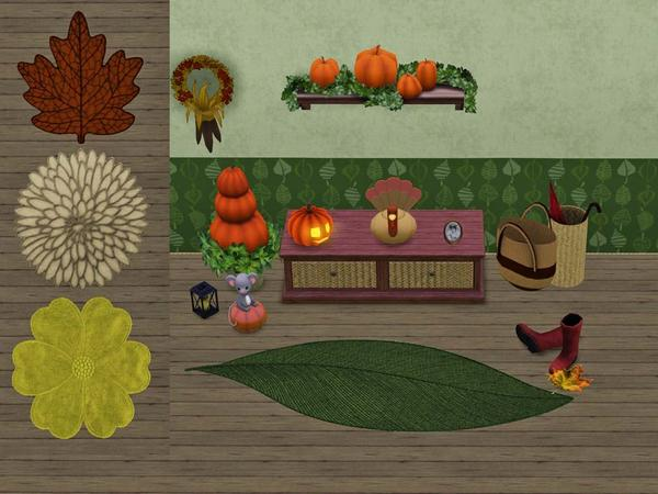Set of 4 autumn rugs by Wimmie