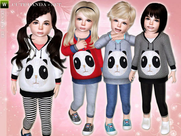 Cute Panda - Toddler Set by lillka