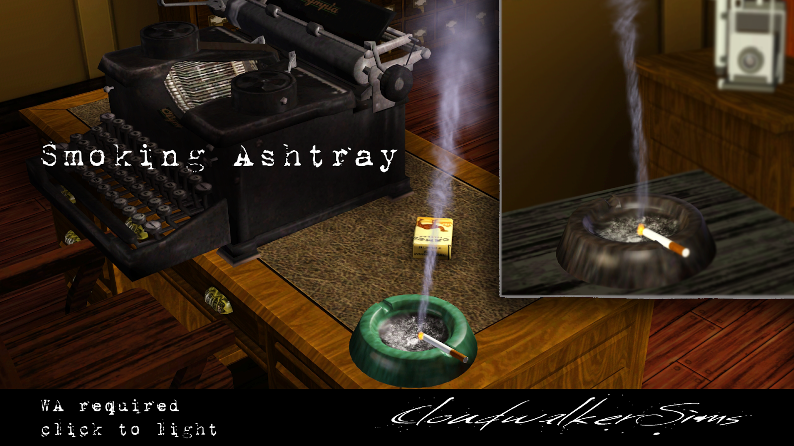 Smoking Ashtray by Cloudwalker Sims