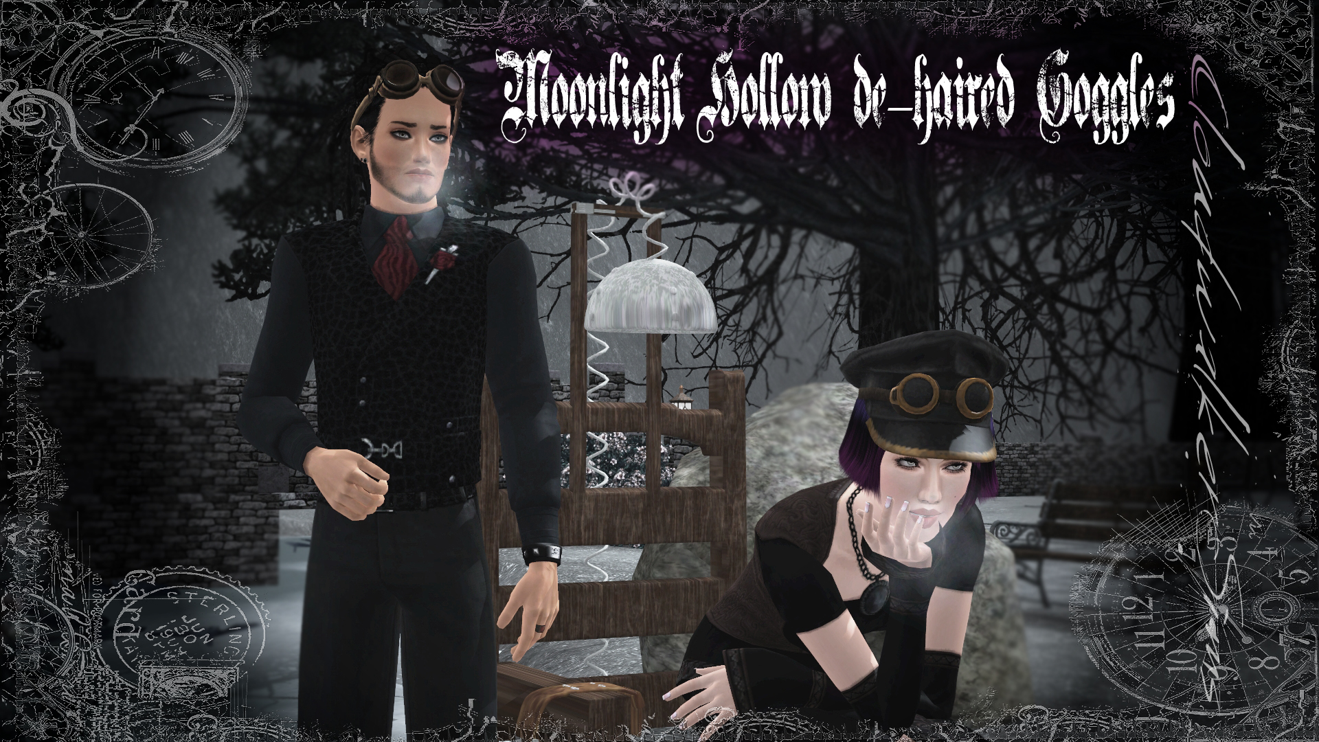 Midnight Hollows Dehaired Accessories by Cloudwalker Sims