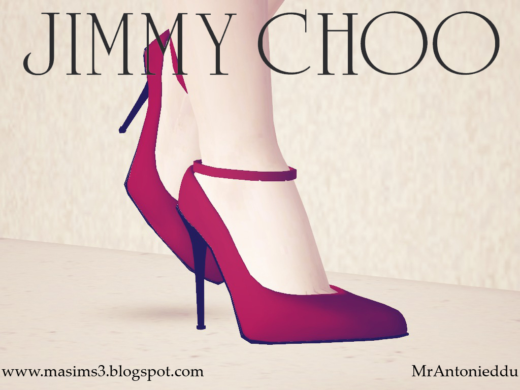 Jimmy Choo Ankle Strap Stiletto 3D Shoes by MrAntonieddu