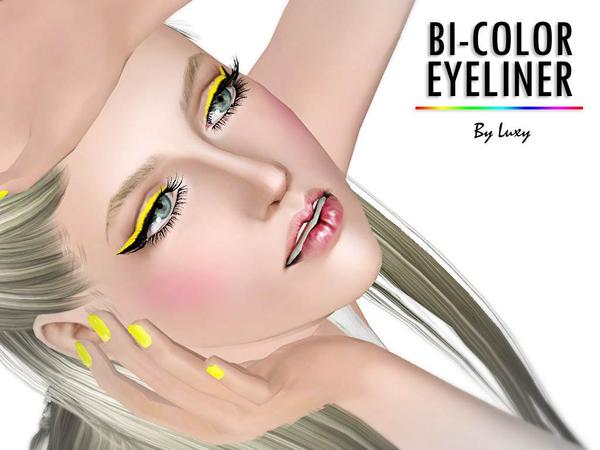 BI-COLOR EYELINER by LuxySims3