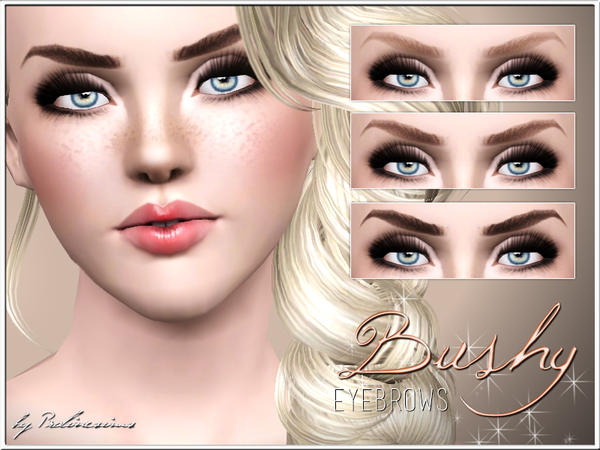 Bushy Eyebrows by Pralinesims