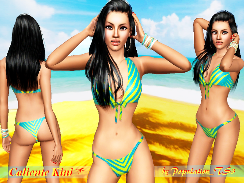 Caliente Kini Swimwear by PopulationTS3