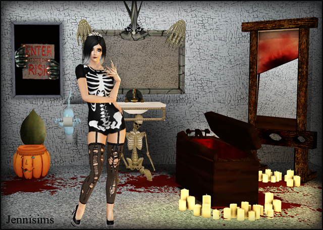 TS2 Halloween Bathroom Conversions by Jenni
