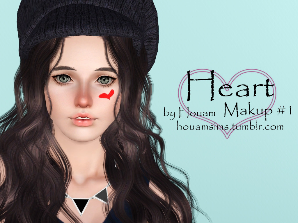 Heart & Shy face Makeup #1 by Houam