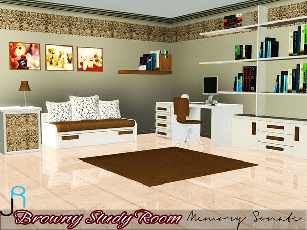 Browny Study Office by Memory Sonate