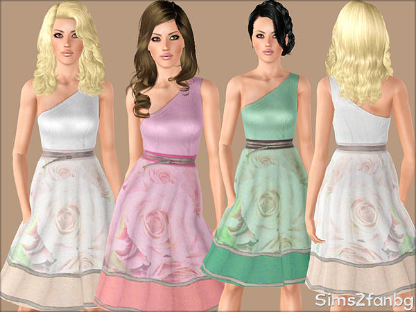 359 - Dresses flower by sims2fanbg