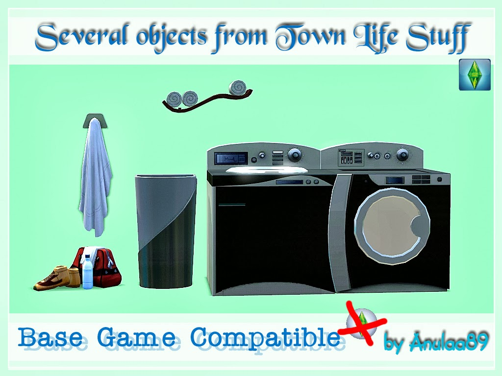 Base Game Compatible Town Life Stuff Objects by Anulaa89