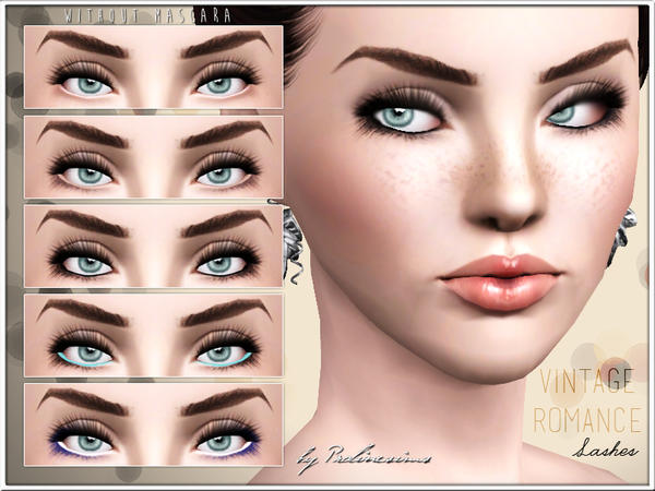 Vintage Romance Lashes by Pralinesims