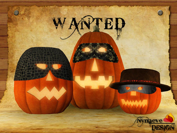 Wanted Jack O lanterns - Halloween Decoration by NynaeveDesign