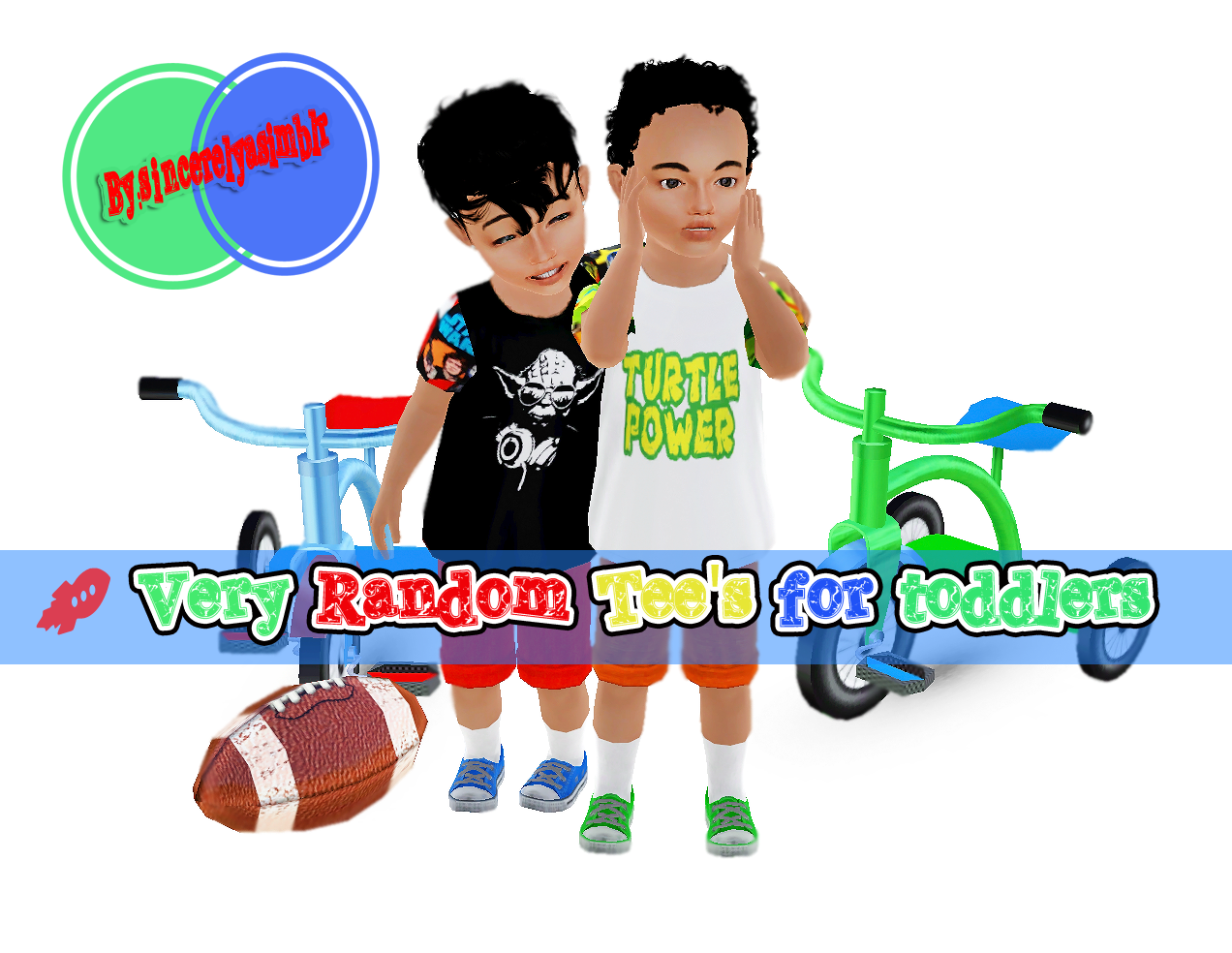 Very random tees for toddlers by Sincerelyasimblr