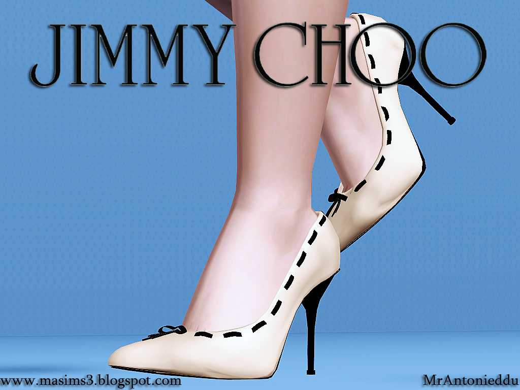 Jimmy Choo Strap Stiletto 3D Shoes by MrAntonieddu