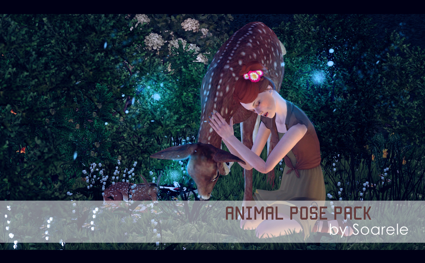 Animal Pose Pack for The Sims 3 by Soarele