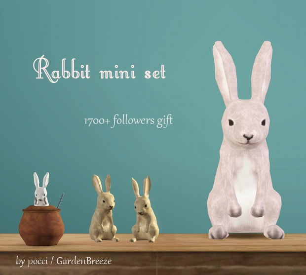 Rabbit Mini Set by Pocci