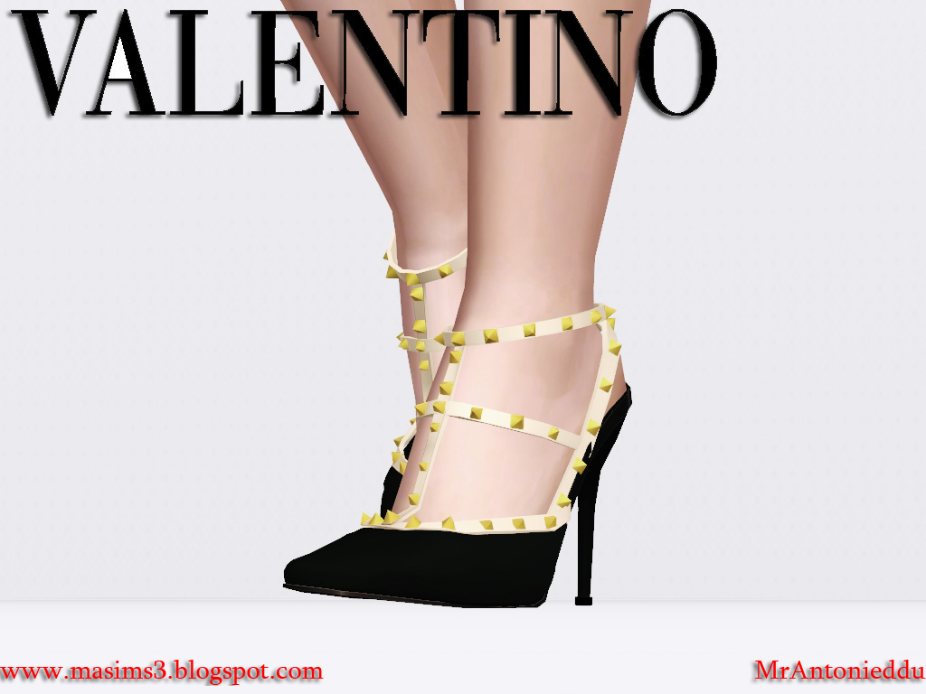 Valentino Rockstud Stiletto 3D Sandals by MrAntonieddu