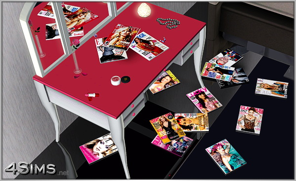 Fashion and Lifestyle magazines decor clutter by Mirel