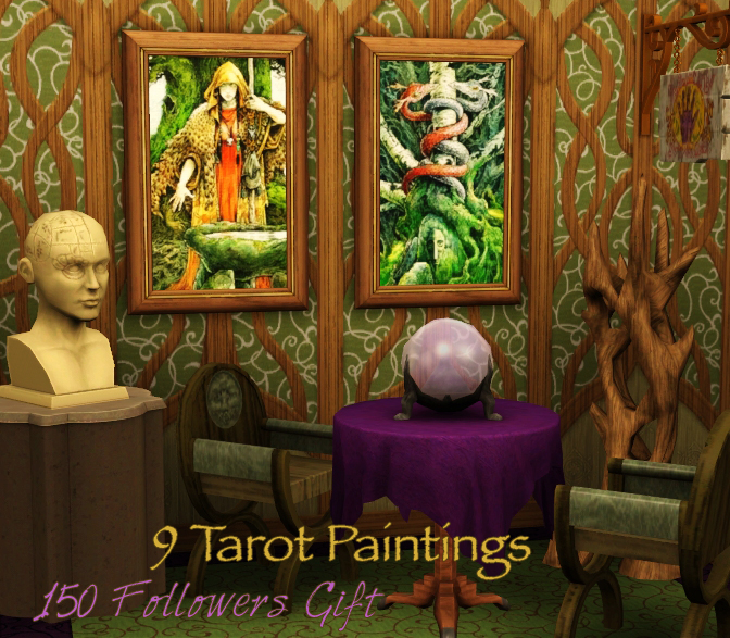 9 Tarot Paintings by Caterpillarsims