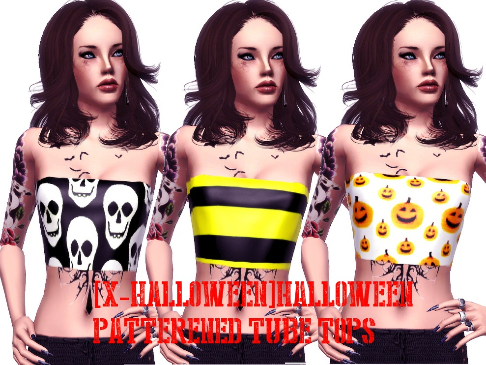 [X-Halloween] Tube Tops by Angelspookysims