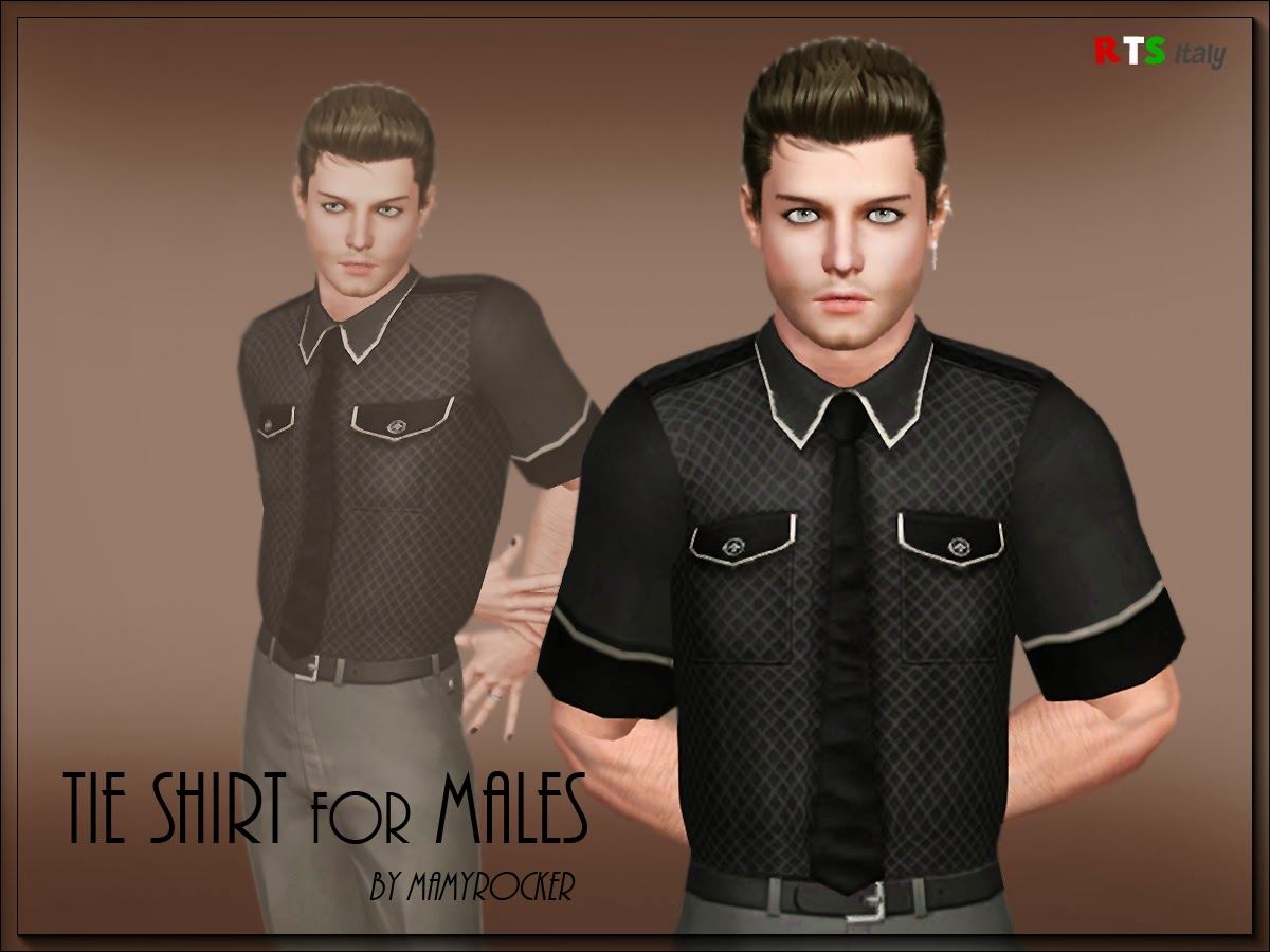 Tie Shirt for Males by MamyRocker