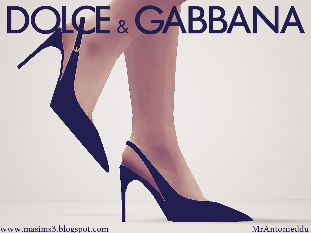 Dolce & Gabbana Strap Stiletto 3D Shoes by MrAntonieddu