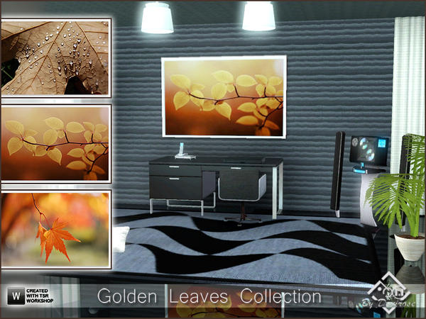 Golden Leaves Collection by Devirose