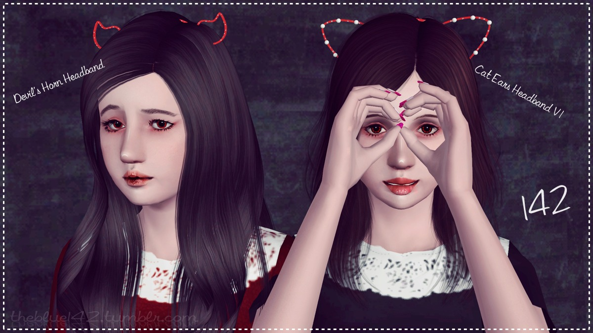 Cat Ears and Devil Horns Headbands by Theblue142