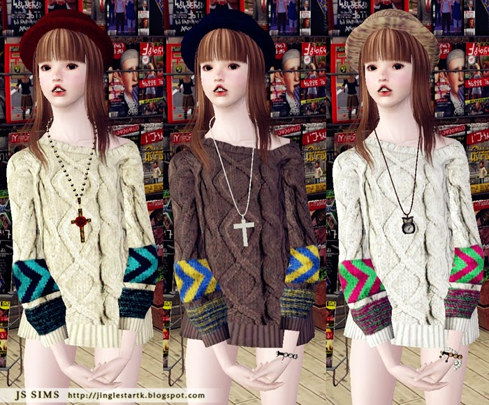 Coloration Foose Knit by JS Sims 3