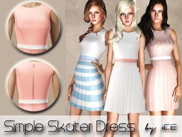 Simple Skater Dress by ice1