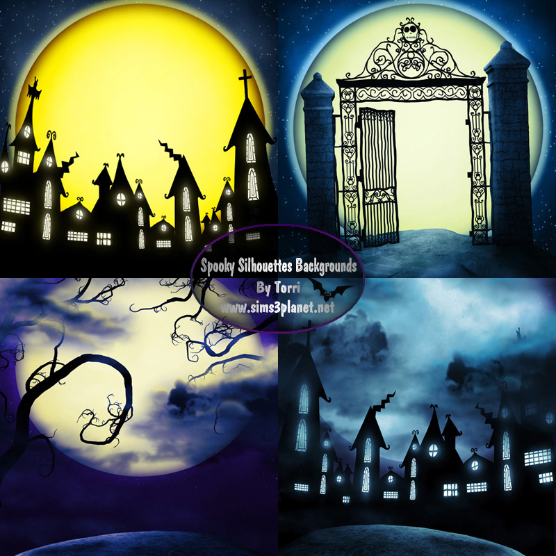 Silent Fright Backgrounds by Torri