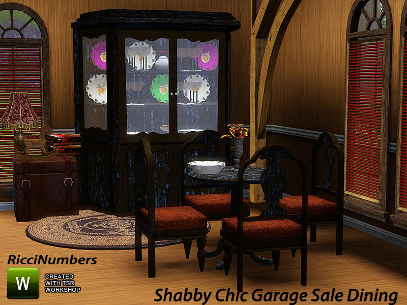 Shabby Chic Garage Sale Dining by riccinumbers